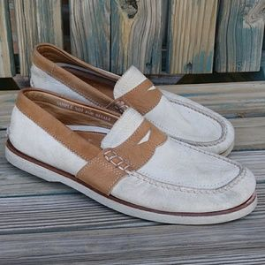 Sperry Top Sider Men's Cream Loafers